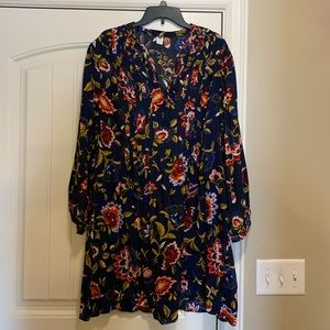 Old Navy tie front floral print dress